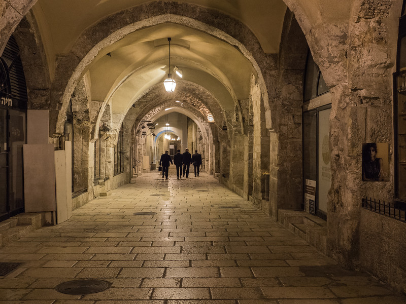 .....walking through the Cardo, excavated from when Jerusalem was under Roman rule.