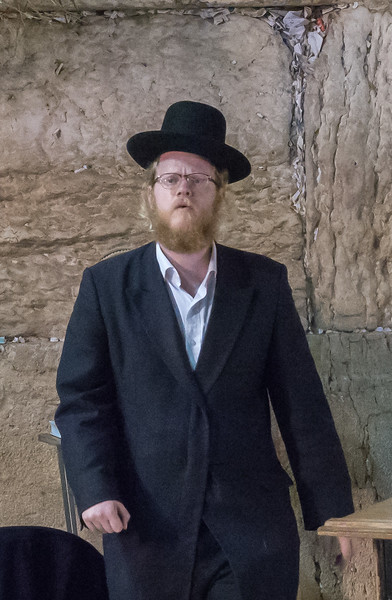 An Orhodox Jew at the Wall