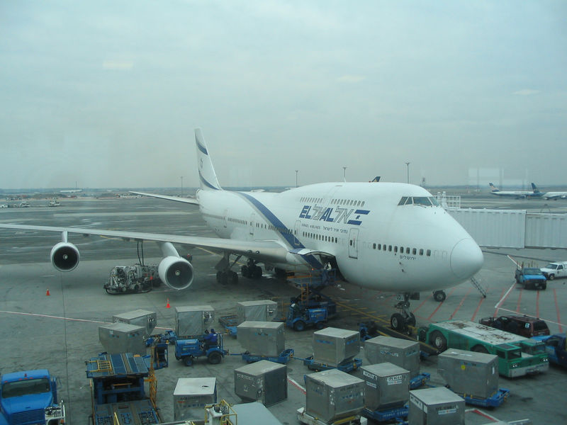 El Al Flight LY 027.  This picture excites Justin more than a woman.
