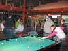 A poor quality picture of pool at the Kibbutz Pub