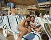 Zoe & Bea,Tel Aviv Hilton pool