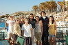 Tel Aviv Hilton pool with Solomon, Evie, Becky, Zoe, Barbara Glickstein, Manya and Ezra Ellenberg, Bea Volkmar