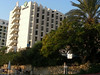 Many adjacent hotels next to our hotel at the south end resort beach at the Dead Sea.