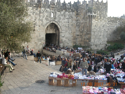 Israel Tour Dec2007 Day 8: Jerusalem BYU Center, Orson Hyde Park, Old-town shopping, Gethsemane