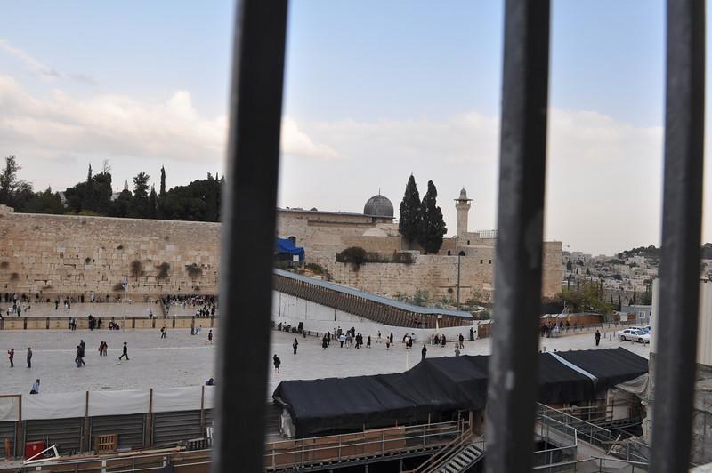 Al-Aqsa Mosque behind Western Wall, Jerusalem
