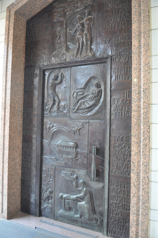 Bible door sculptures, The Basilica of the Annunciation