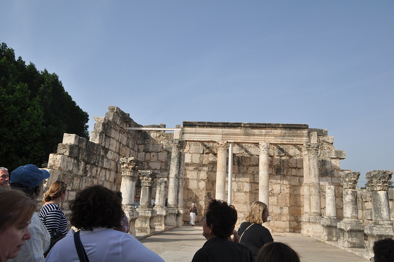 Ruins of Synagogue in Capernaum. Believed that Jesus has taught here.