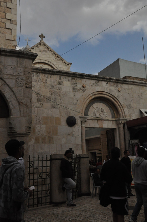 The fouth Station (via Delarosa): Jesus met His Mother, Old City Jerusalem