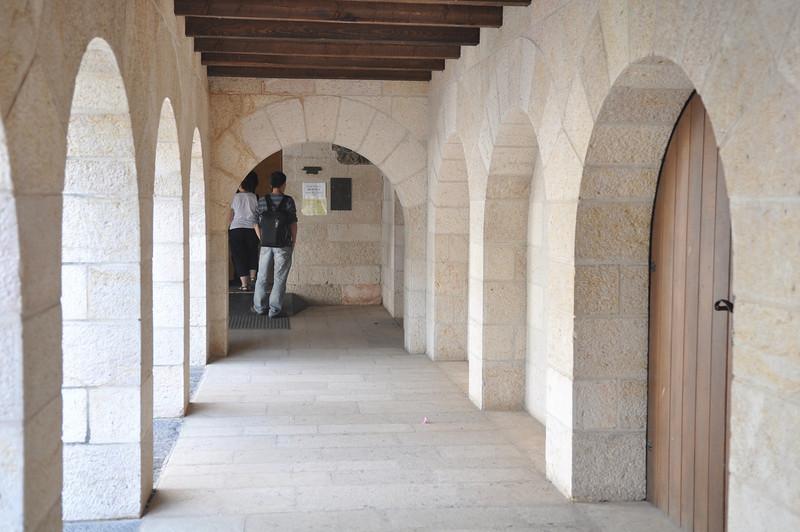 Hallway to chruch, Tabgha