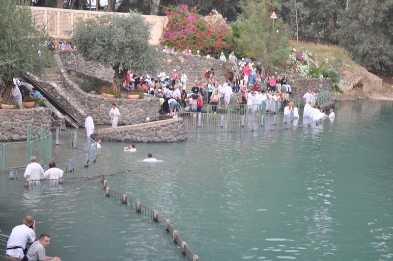 Baptism of some people, River Jordan.