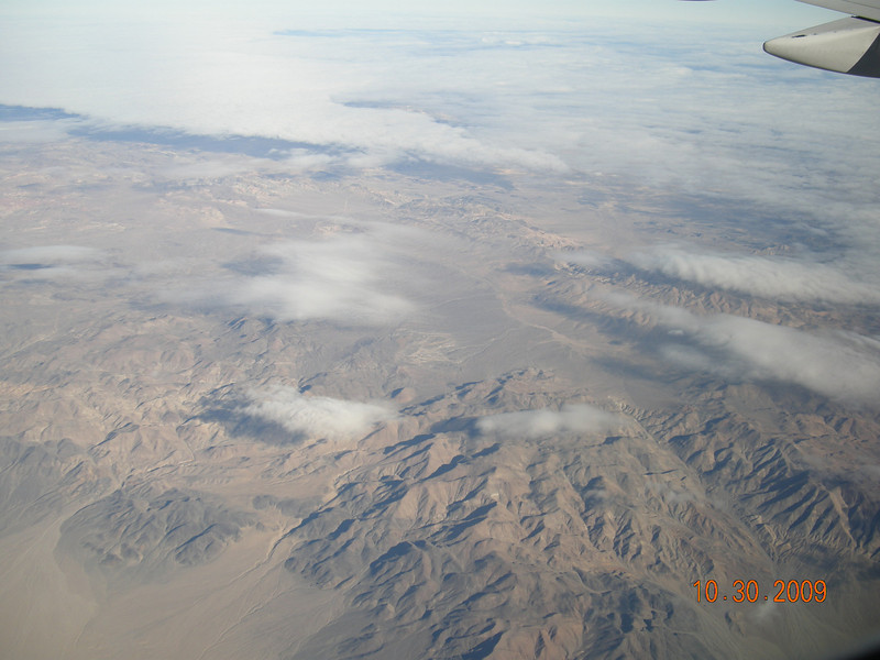 Another scene from plane, Nevada Mountains.... All badlands....
