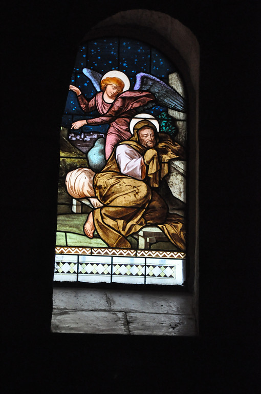 Angel talked to Joseph in a dream after he plan to quietly divorce Mary. St Joseph's Church
