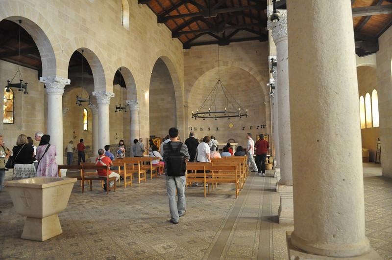 Inside church, Tabgha