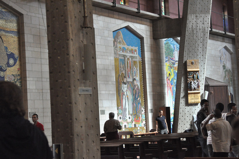 Mary and Baby Jesus murals all over the world. The Basilica of the Annunciation
