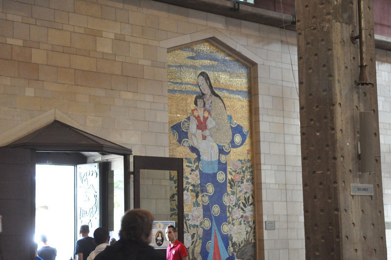 Japanese Mary and baby Jesus. Basilica of the Annunciation