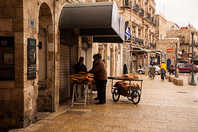 Arab bread seller in the old city