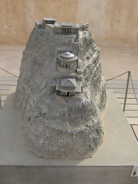 Model depicting what Herod's palace would have looked like during its heyday 2,000 years ago.
