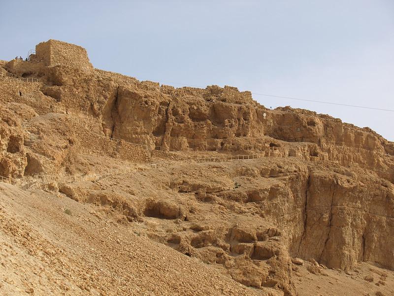 Masada -- compound viewed from below