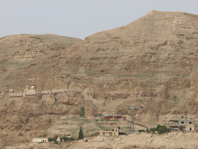 Mount of Temptation:  the desert area near Jericho where Jesus fasted for 40 days and where the devil offered Him riches if He would worship him.  <br /> <br /> You can also see a 19th century Orthodox monastery which in turn houses a 12th century cave church built by the Crusaders.