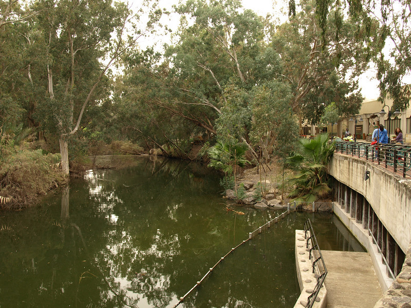 Jordan River -- the area where Jesus is believed to have been baptized by John the Baptist.  Religious groups flock to the site and perform baptism ceremonies on a regular basis