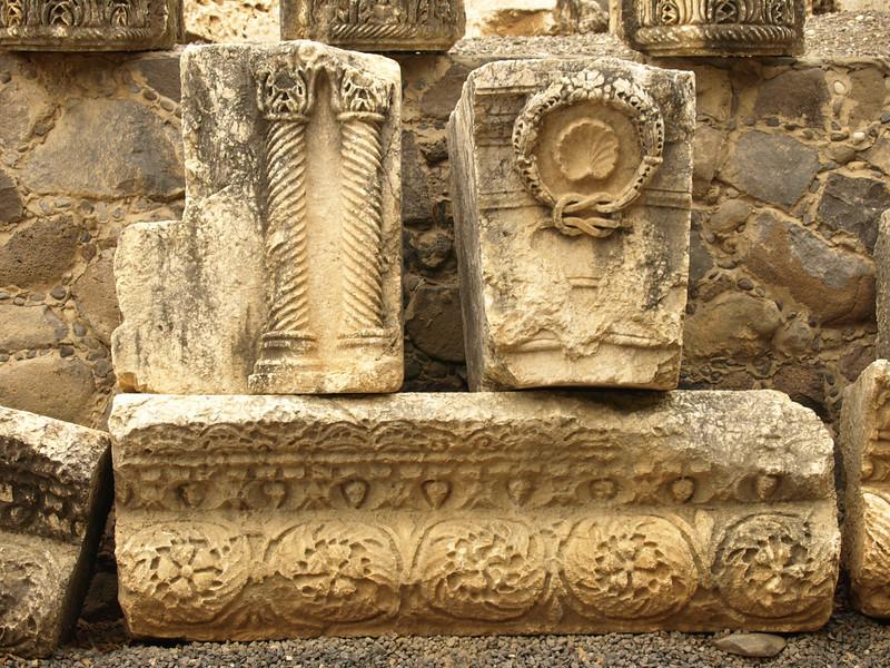 Capernaum - artifacts excavated in the area