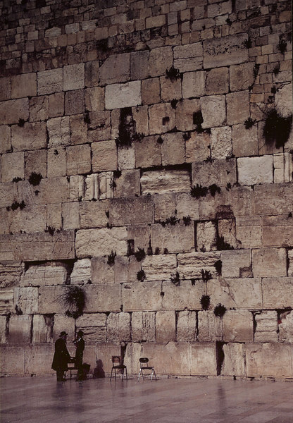Wailing Wall in Jerusalem - Israel, April-May 1989
