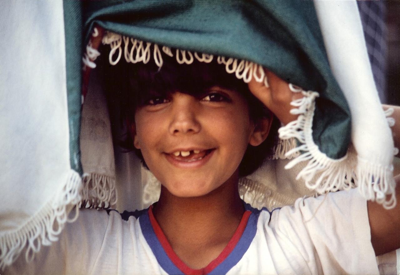 A boy in Teverya - Israel, April-May 1989