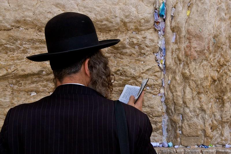 Praying at the Western Wall.