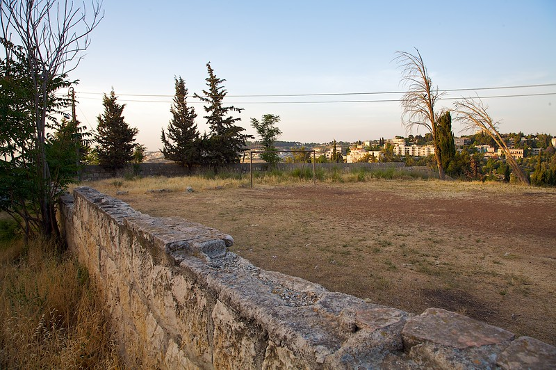 An old soccer field in the Mt. Zion area of the old city.