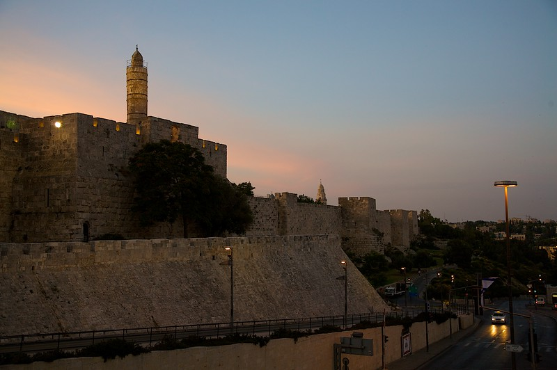 Near the Jaffa Gate of the Old City in Jerusalem.