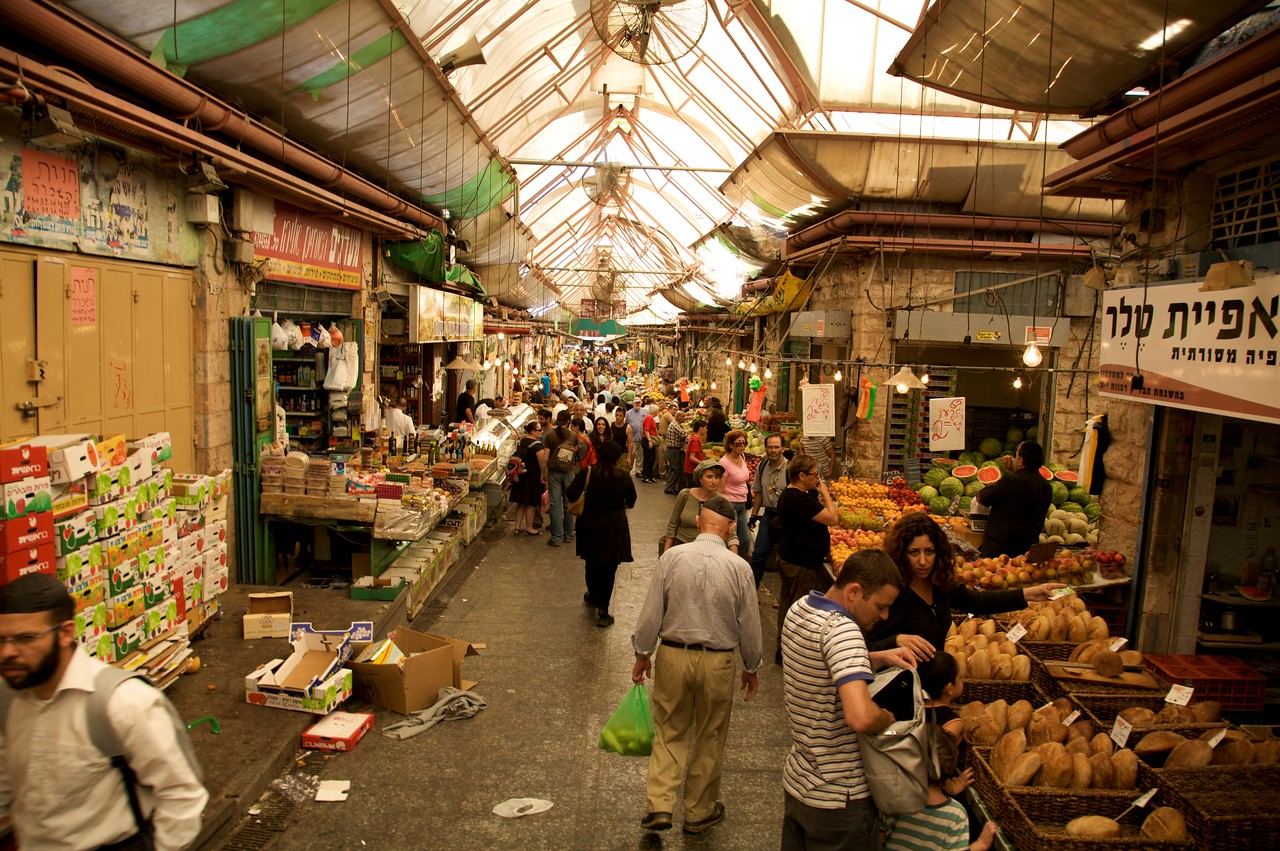 The main drag in the market.