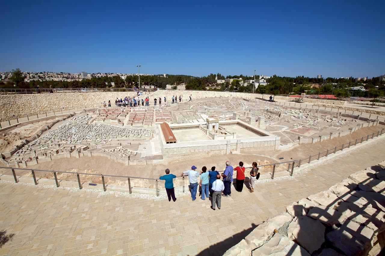 Giant model of Jerusalem