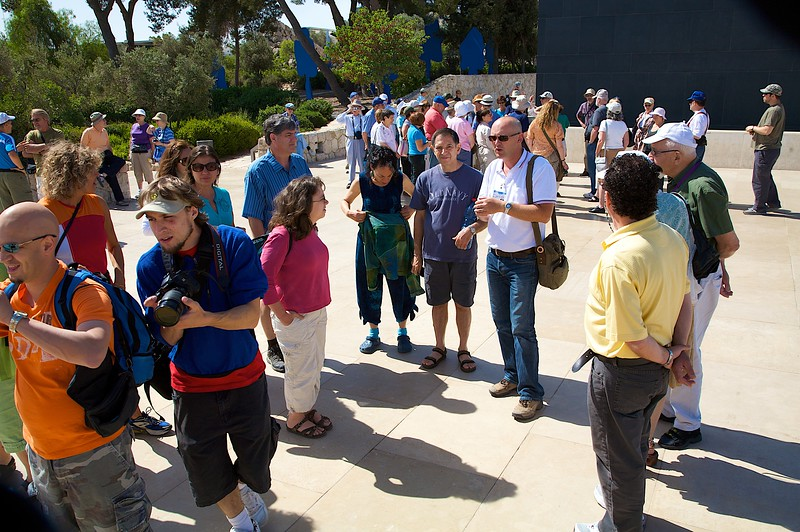 Group gathering for little history lesson at the Isreali Museum.