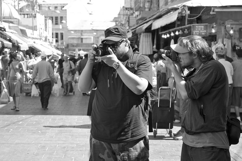 Photographing the photographer, photographing the photographer.
