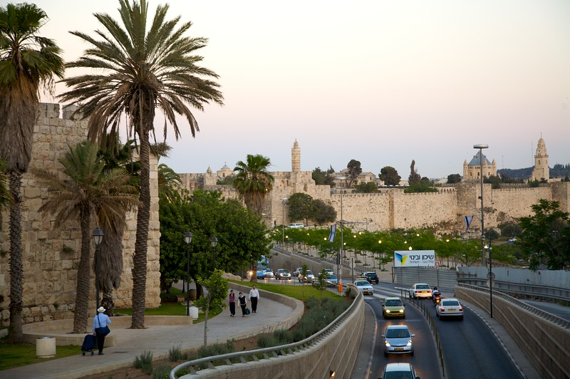 Another shot of the Old City looking toward Jaffa Gate.