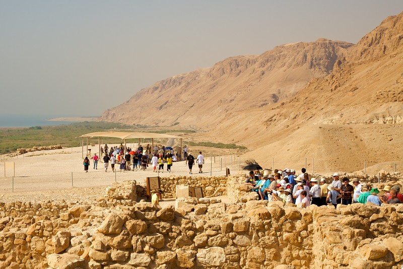 Qumran; the place the Dead Sea Scrolls were found.
