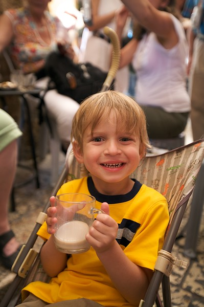Even Adam liked the coffee.  I mean he really liked it.