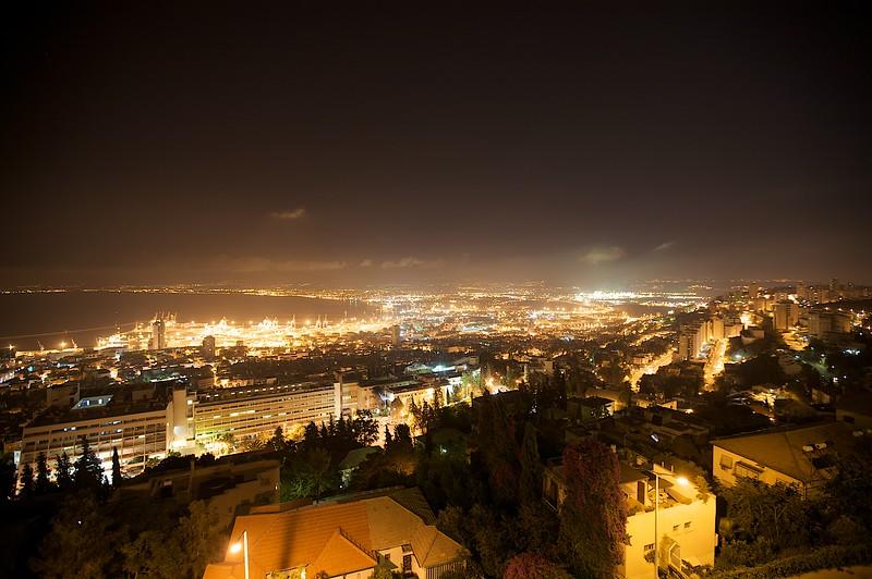 Haifa harbor from the top of Mt. Carmel.