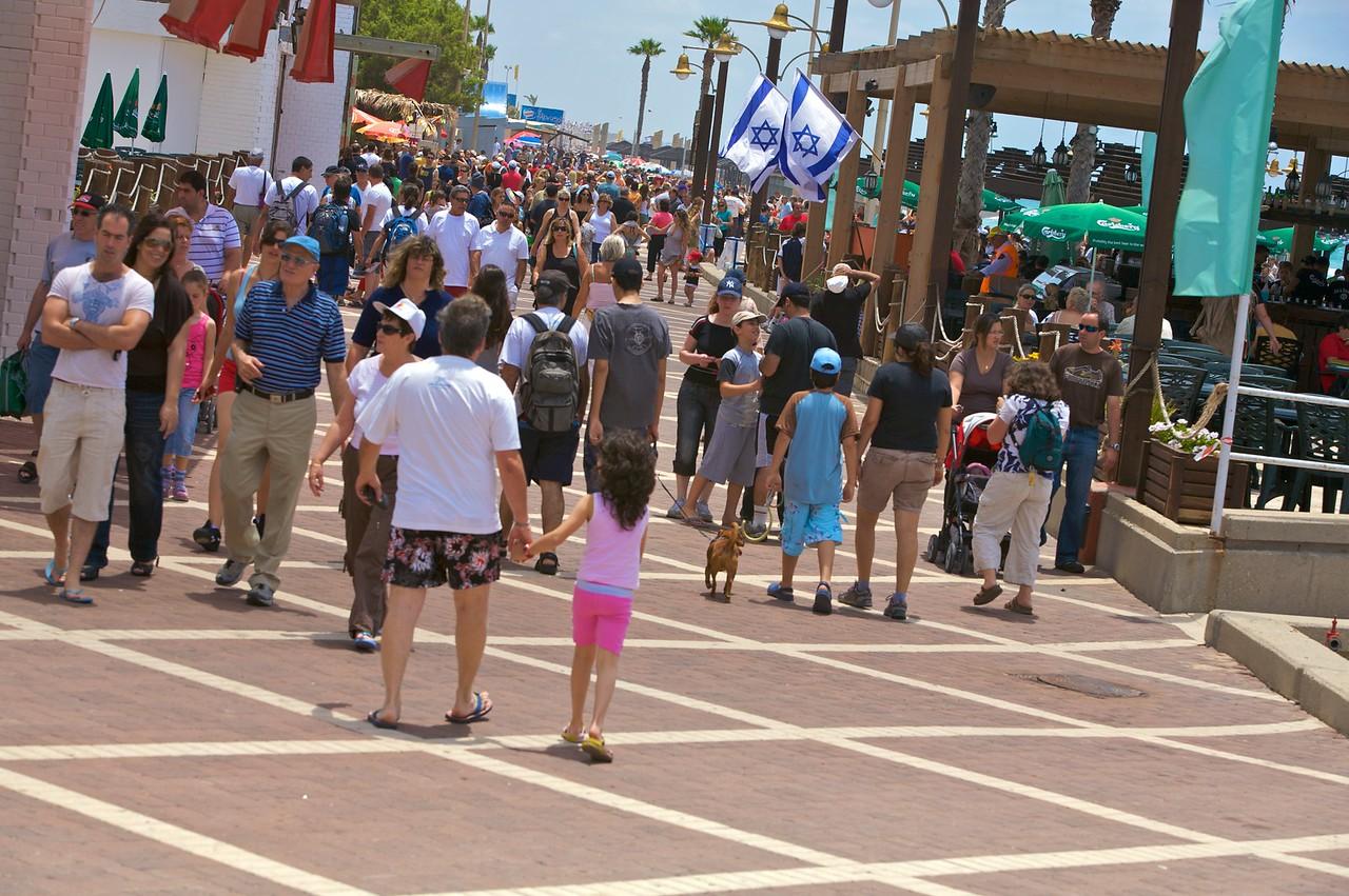 Promonade on Haifa beach.