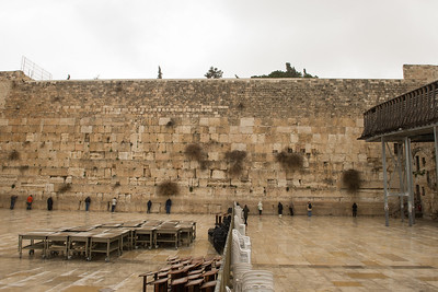 Men's and Women's sections at the Western Wall.
