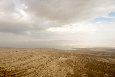 looking from the fortress across the Dead Sea to Jordan.