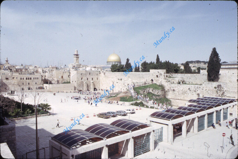Western Wall as seen from a distance.