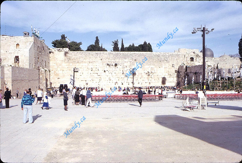 Western Wall - chairs for Purim Program