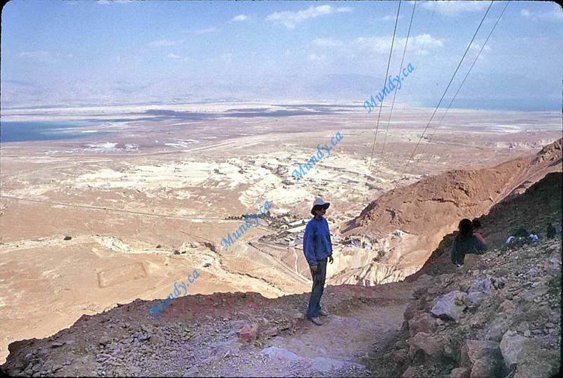 Walking down Masada<br /> Wimps take the tram.