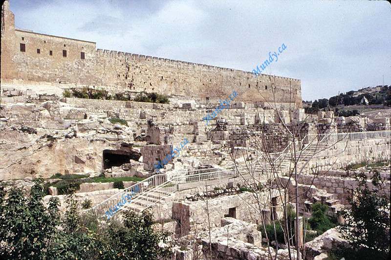 One of the remaining walls of Solomon's Temple.