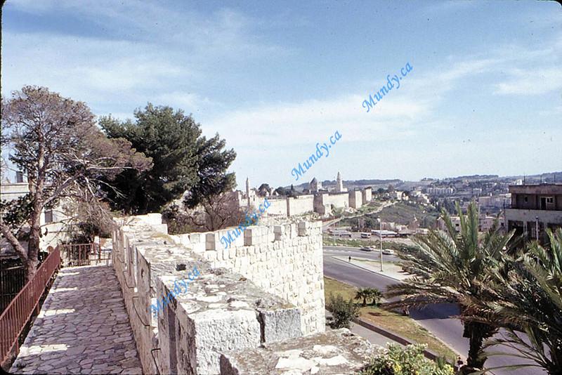 Walls Walk: view of Mount Zion