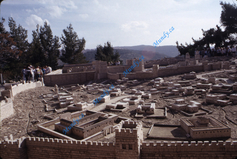 Miniature the city of Jerusalem in NT times ...