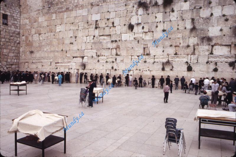 Men's side of the Western Wall