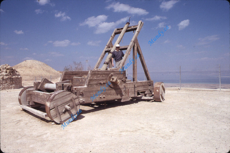"""The catapult they used for the movie """"Masada"""" is still there."""