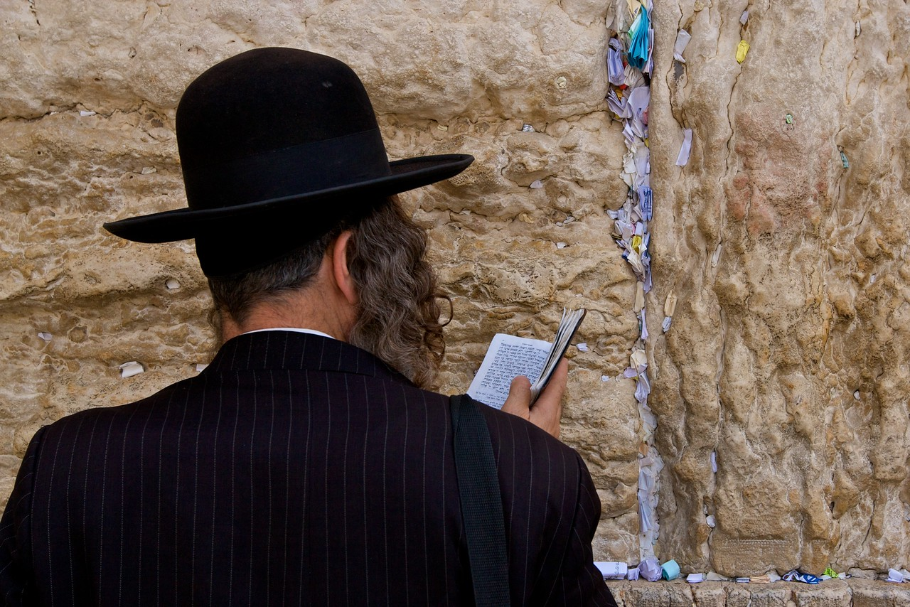 Praying at the Western Wall.